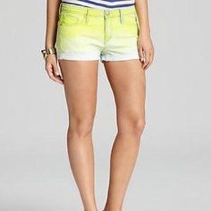 Juicy Jean Couture Dip Dye Cut Off Shorts